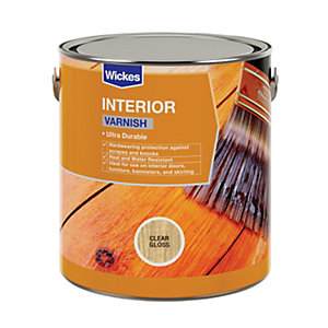 Wickes Interior Varnish - Clear Gloss 750ml