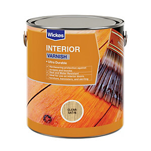 Wickes Interior Varnish - Clear Satin 2.5L