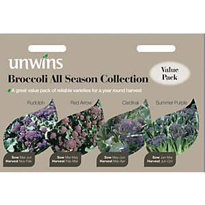 Unwins All Season Collection Broccoli Seeds