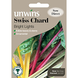 Unwins Bright Lights Swiss Chard Seeds