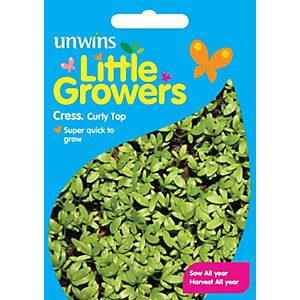 Unwins Little Growers Curly Top Cress Seeds