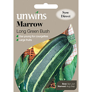 Unwins Long Green Bush Marrow Seeds