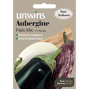 Unwins Patio Mix Aubergine Seeds