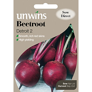 Unwins Round Detroit 2 Beetroot Seeds