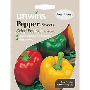 Unwins Salad Festival F1 Sweet Pepper Seeds
