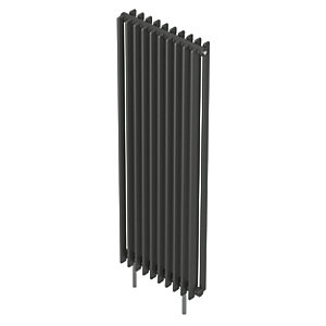 QRL Adagio Vertical Multi-Column Designer Radiator - Anthracite 2000 x 420 mm