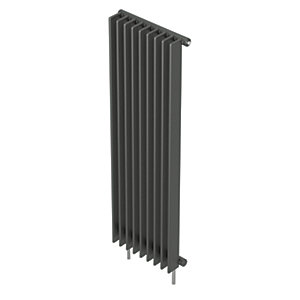 QRL Adagio Vertical Multi-Column Designer Radiator - Anthracite 2000 x 480 mm