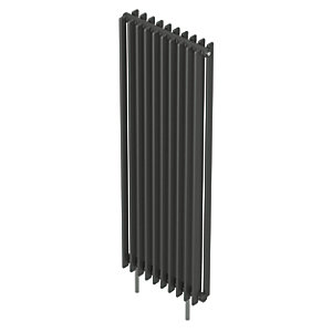 QRL Adagio Vertical Multi-Column Designer Radiator - Anthracite 2000 x 490 mm