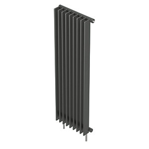 QRL Adagio Vertical Multi-Column Designer Radiator - Anthracite 2000 x 600 mm