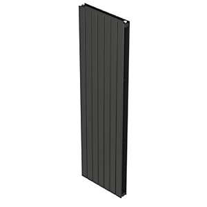 QRL Slieve Double Panel Vertical Designer Radiator - Anthracite 2000 x 288 mm