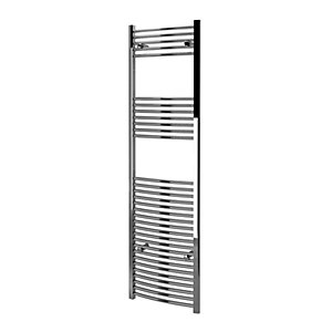 Kudox Curved Towel Radiator - Chrome 500 x 1800 mm