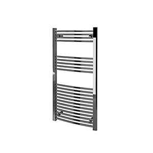 Kudox Curved Towel Radiator - Chrome 600 x 1200 mm