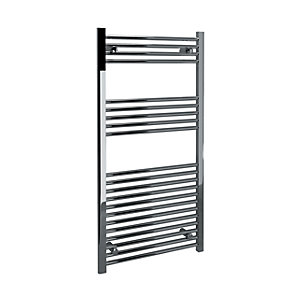 Kudox Straight Towel Radiator - Chrome 600 x 1200 mm