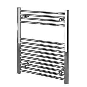 Kudox Straight Towel Radiator - Chrome 600 x 750 mm