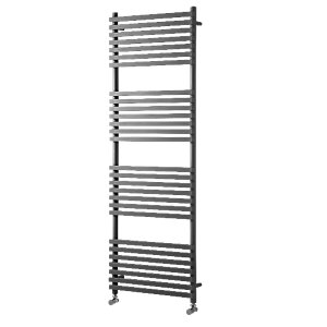 Wickes Invent Square Vertical Designer Towel Radiator - Anthracite 750 x 500 mm