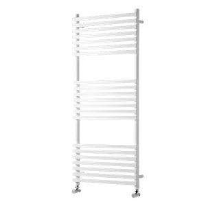 Wickes Invent Square Vertical Designer Towel Radiator - White 1186 x 500 mm