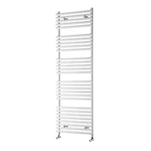 Wickes Liquid Round Vertical Designer Towel Radiator - White 800 x 500 mm