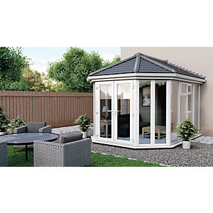 Euramax Victorian V6 Solid Roof Full Glass Conservatory - 12 x 13 ft