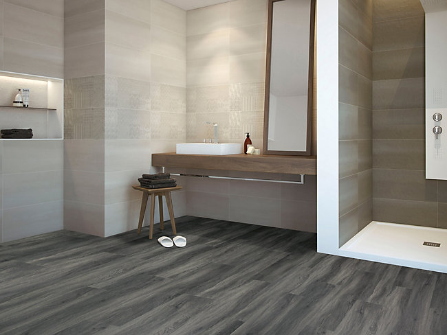 Ascot Dark Grey Oak Luxury Vinyl Flooring