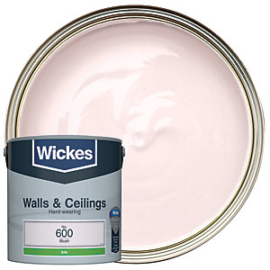 Wickes Blush - No. 600 Vinyl Silk Emulsion Paint - 2.5L