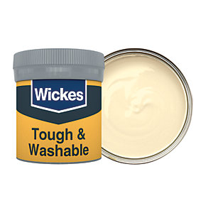 Wickes Cream - No. 305 Tough & Washable Matt Emulsion Paint Tester Pot - 50ml