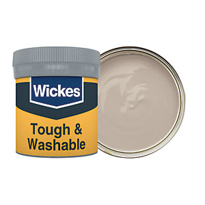 Wickes Earl Grey No. 430 Tough & Washable Matt Emulsion Paint Tester Pot - 50ml