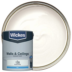 Wickes Frosted White - No. 135 Vinyl Matt Emulsion Paint - 5L