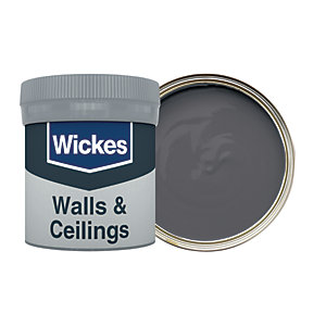 Wickes Liquorice - No. 250 Vinyl Matt Emulsion Paint Tester Pot - 50ml
