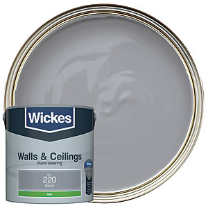 Wickes Pewter - No. 220 Vinyl Silk Emulsion Paint - 2.5L