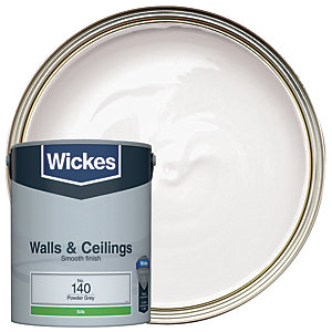 Wickes Powder Grey - No. 140 Vinyl Silk Emulsion Paint - 5L