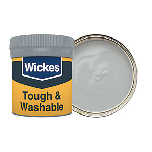 Wickes Steel - No. 210 Tough & Washable Matt Emulsion Paint Tester Pot - 50ml