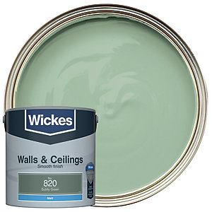 Wickes Subtly Green - No. 820 Vinyl Matt Emulsion Paint - 2.5L