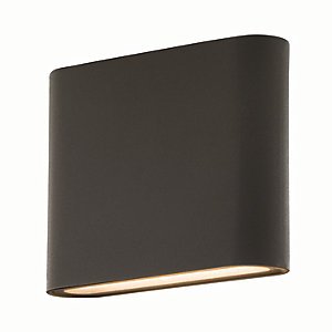 Luceco LED Grey Exterior Flat Wall Light - 8W