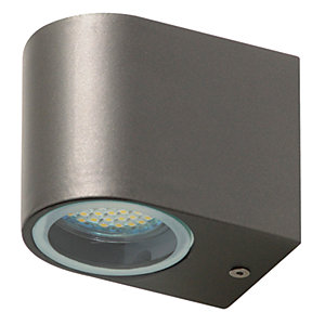 Ranex Bastia Aluminium Grey Outdoor LED Wall Light - 3W GU10