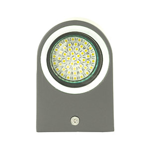 Ranex Grey Aluminium Outdoor SMD LED Up & Down Wall Light - 3W GU10