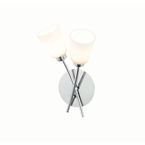 Spa Tucana Chrome Double Bathroom Wall Light - 56W