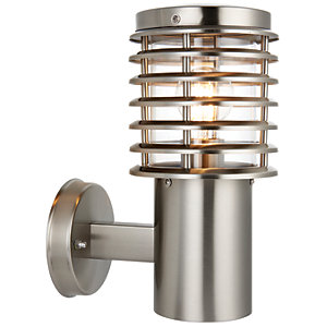 Wickes Eton Brushed Chrome Wall Light - 60W