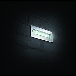Wickes Riko Chrome LED Brick Light - 3W