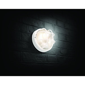 Wickes White Round Bulkhead Light - 60W