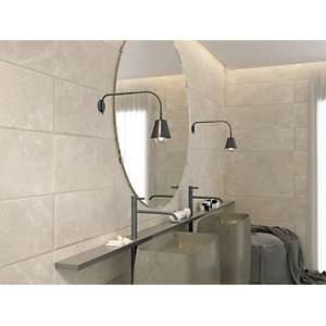 Boutique Paloma Silver Ceramic Wall Tile 900 x 300mm