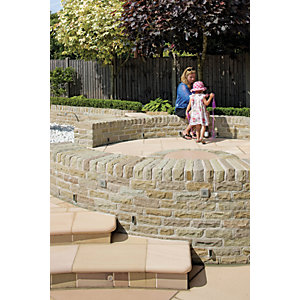 Marshalls Fairstone Tumbled Natural Stone Walling - Autumn Bronze 220 x 65mm Pack of 5