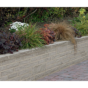 Marshalls Marshalite Pitch Faced Walling - Ash 440 x 100 x 140mm Pack of 90