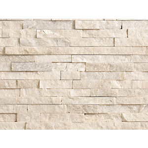 Marshalls Stoneface Drystack Quartzite Walling Pack - Oyster 2.89m2