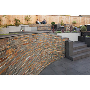 Marshalls Stoneface Drystack Walling Pack - Copper Slate 2.89m2