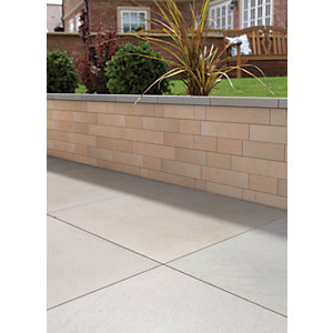 Marshalls Stoneface Sawn Veneer Smooth Walling Pack - Golden Sand 3m2