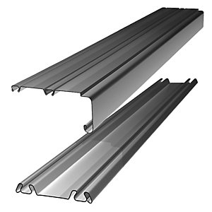 Wickes Sliding Door Trackset - Silver 1.2-1.8m