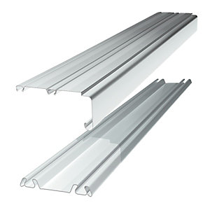 Wickes Sliding Door Trackset - White 1.2-1.8m