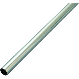 Wickes Interior Multi Rail Tube - 19mm x 1.82m Chrome