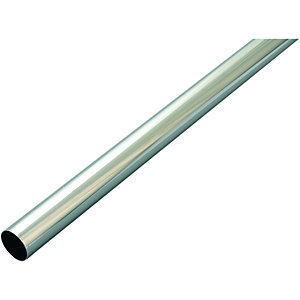 Wickes Interior Multi Rail Tube - 25mm x 1.21m Chrome