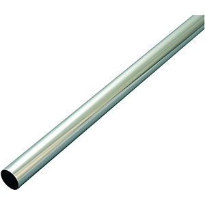 Wickes Interior Multi Rail Tube - 25mm x 2.44m Chrome